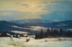 Artwork by Frederick Henry Brigden, Sleigh Ride