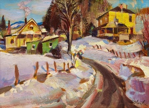 Artwork by Albert Edward Cloutier, St-Jovite (près lac ouimet), après midi en mars