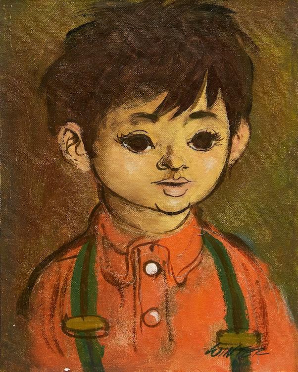 Artwork by William Arthur Winter,  Boy in Suspenders