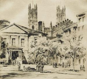 Artwork by Herbert Raine, Notre Dame, Montreal, PQ