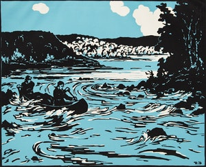 Artwork by Rodolphe Duguay, Sur le St. Maurice, 21 avril 1936