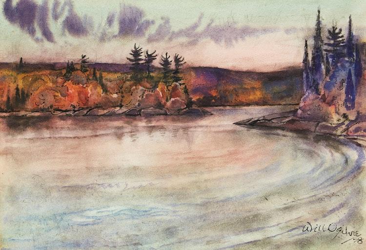Artwork by William Abernethy Ogilvie,  Evening Sky, Algonquin