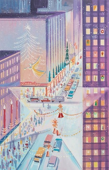 Artwork by Walter Coucill, Hallmark Christmas Card Illustration #2
