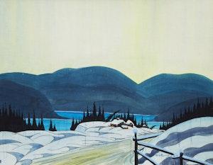 Artwork by Graham Noble Norwell, Winter, Laurentians