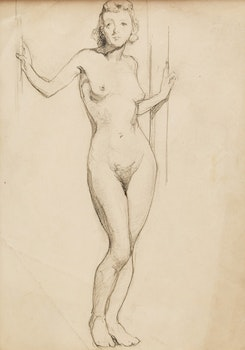 Artwork by Manly Edward MacDonald, Standing Female Nude