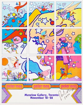 Artwork by Peter Max, Peter Max, Mazelow Gallery, Toronto, November 10-28