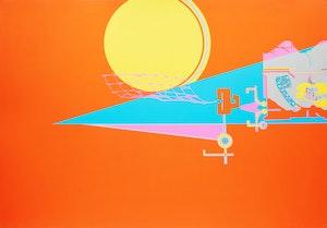 Artwork by Harold Barling Town, Moon Net
