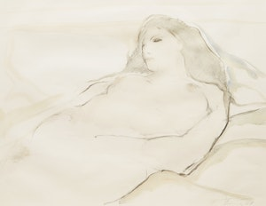 Artwork by Peter Alfred Harris, Reclining Nude
