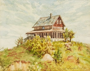 Artwork by Ernest Sawford Dye, Landscape with House
