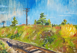 Artwork by Arthur Shilling, Train Tracks