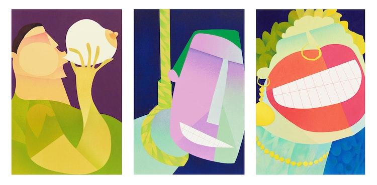 Artwork by Claude Le Sauteur,  Le scabreux; L'humour noir; Le ridicule