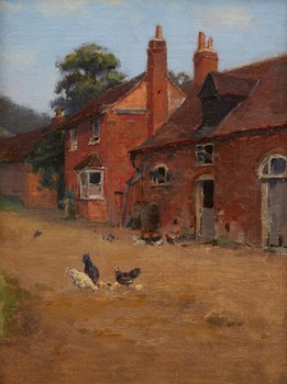 Artwork by Farquhar McGillivray Strachan Knowles, Cottage at Cassiobury, Hertfordshire