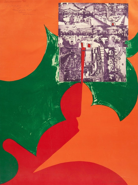 Artwork by Matsumi Kanemitsu,  San Francisco (1968)