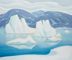 Artwork by Doris Jean McCarthy, Iceberg & Floes