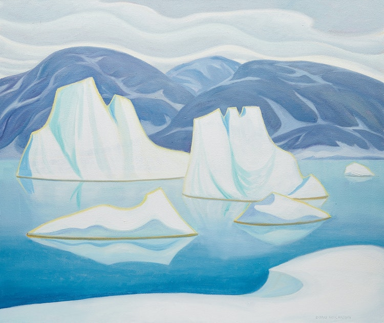 Artwork by Doris Jean McCarthy,  Iceberg & Floes