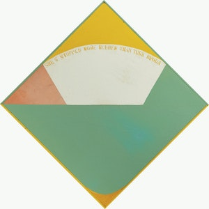 Artwork by Gregory Richard Curnoe, Homage to Post Painterly Abstraction (1964)