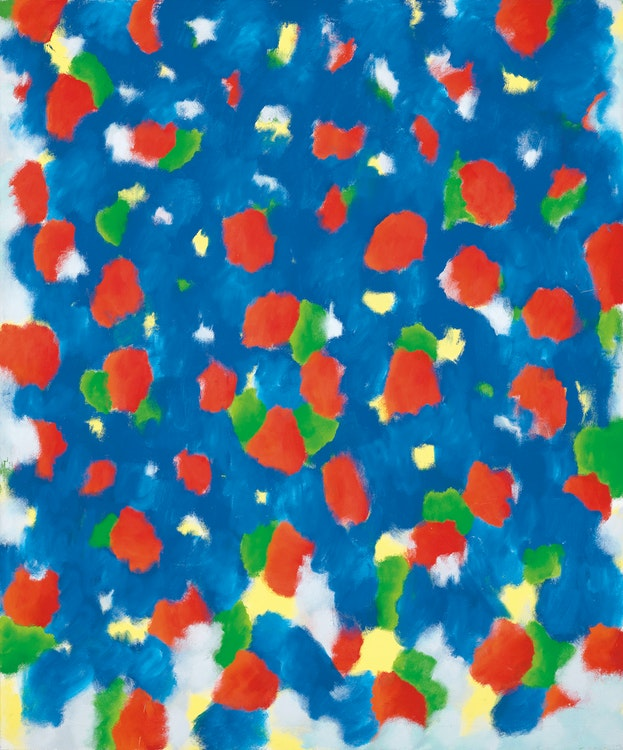 Artwork by Gershon Iskowitz,  Night Blue Red - B