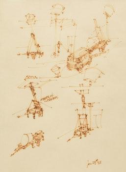 Artwork by Kim Adams, Three Drawings