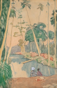 "Artwork by James Wilson Morrice, Study for ""The Pond, West Indies"" (circa 1916-1919)"