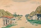 """Thumbnail of Artwork by James Wilson Morrice,  Study for """"Village Street, West Indies"""" (circa 1916-1919)"""
