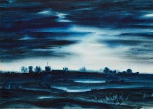 Artwork by Kazuo Nakamura, Nightfall