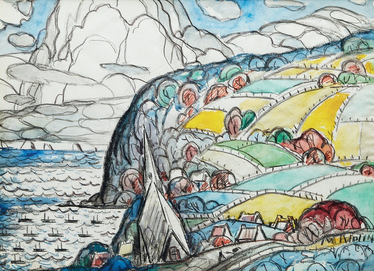 Artwork by Marc-Aurèle Fortin,  Gaspé Coast