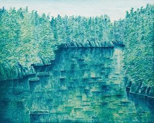 Artwork by Kazuo Nakamura, Solitude