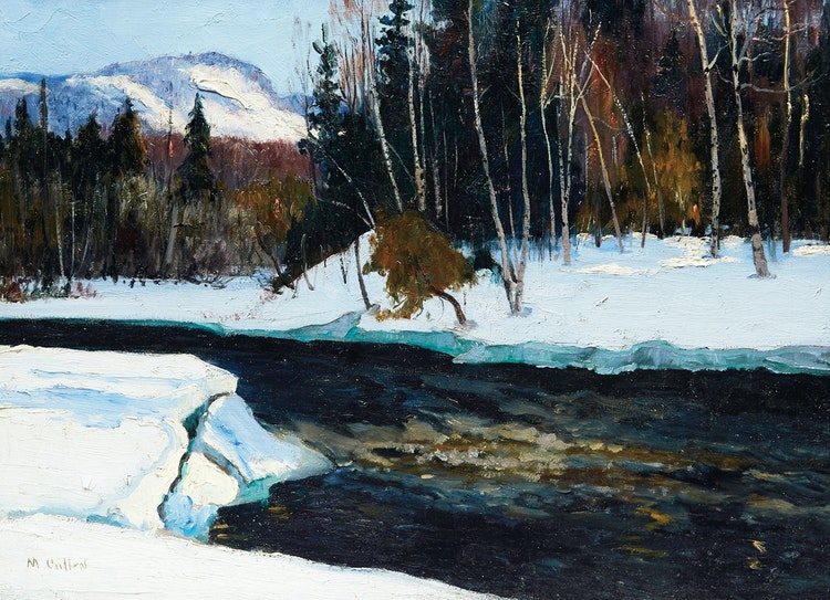 Artwork by Maurice Galbraith Cullen,  Winter, The Caché River