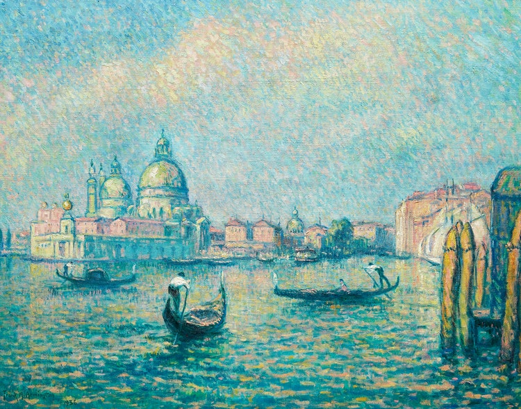Artwork by Frank Milton Armington,  Grand Canal, Venice