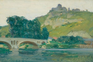 Artwork by Clarence Alphonse Gagnon, Chateau Galliard, Les Andelys