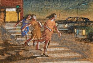 Artwork by Philip Henry Howard Surrey, Three Girls Running