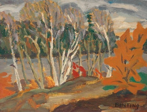 Artwork by Frederick Grant Banting, Birches, French River, 1930