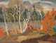 Thumbnail of Artwork by Frederick Grant Banting,  Birches, French River, 1930