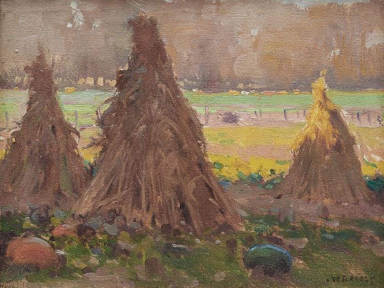 Artwork by John William Beatty,  Harvest Time, Ontario
