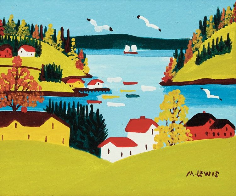 Artwork by Maud Lewis,  Sandy Cove