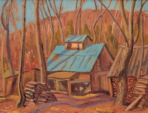 Artwork by Alexander Young Jackson, Maple Sugar Shack