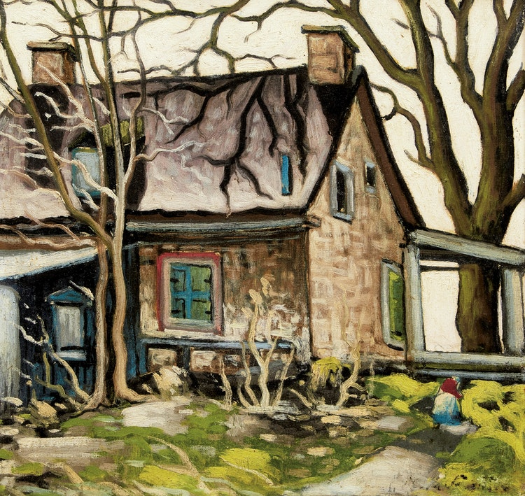 Artwork by Marc-Aurèle Fortin,  Vieille maison