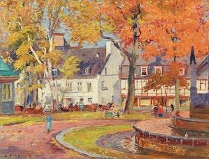 Artwork by Robert Wakeham Pilot, Place d'Armes, Quebec