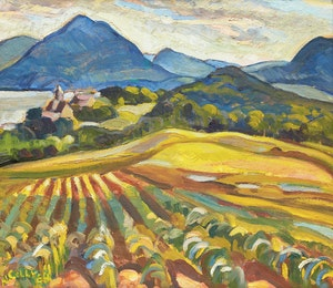 Artwork by Nora Frances Elisabeth Collyer, Summer Landscape