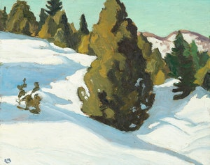 Artwork by Edwin Headley Holgate, Laurentian Snows