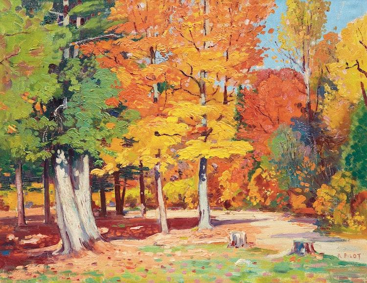 Artwork by Robert Wakeham Pilot,  Autumn Landscape