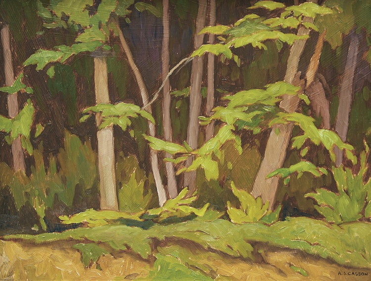 Artwork by Alfred Joseph Casson,  Edge of the Woods, Oxtongue Lake