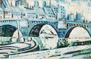 Artwork by Marc-Aurèle Fortin, La Seine à Paris
