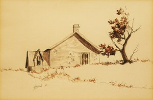 Artwork by James Keirstead, House; Barn