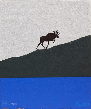 Artwork by  Books and Reference, Charles Pachter; The Ascent