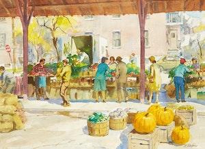 Artwork by Henry John Simpkins, Market Scene