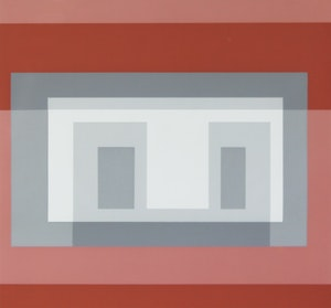 Artwork by Josef Albers, Untitled (Variants VI, Greys and Reds)
