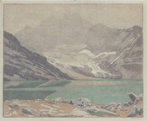 Artwork by Walter Joseph Phillips, Lake MacArthur, Canadian Rockies