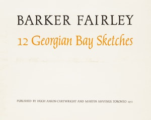 Artwork by Barker Fairley, 12 Georgian Bay Sketches