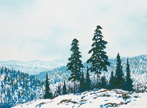 Artwork by Philip Sybal, Early Snowfall